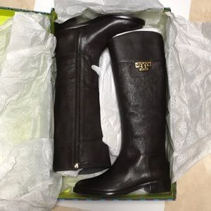 Tory Burch Joanna Riding Boot Brown 9.5 NEW